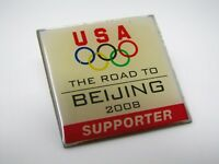 Vintage Collectible Pin: USA Olympics The Road to Beijing 2008 Supporter