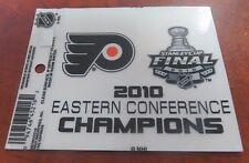 "Philadelphia Flyers 2010 Stanley Cup Finals 4.5""x 3.5"" Static Cling Decal"