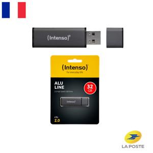 Clé USB 32 Go Gb 2.0 Intenso Alu Line Drive en aluminium Windows/Mac