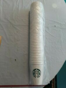 STARBUCKS disposable PAPER CUPS 1 SLEEVE OF 44 Tall CUPS (12 oz) First Sip