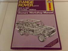Reparaturanleitung Range Rover Service and Repair Manual 1970-1992  3528 3947 cc
