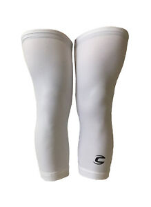new L Cannondale knee warmers men's cycling white signature leg grippers cycling