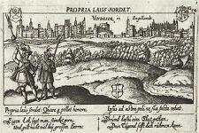 WINDSOR CASTLE England Kupferstich aus Meisner Schatzkästlein 1678 Original!