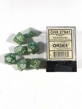 Dice 12mm Chessex Festive Brown Pips Set of 35 Small Sz and Set Of 7 Green Set