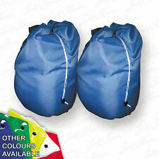 2 Blue Jumbo Storage Bag Laundry Bags sack Reusable Large Strong Draw string