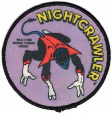 "NIGHTCRAWLER X-MEN 1980's Sew-On Patch MARVEL COMICS Unused NOS Large 4"" VINTAGE"