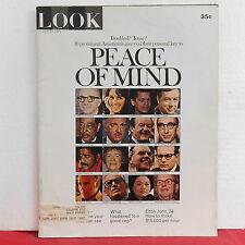 Peace of Mind Look Magazine Cronkite Duke Ellington Sammy Davis Jr July 27 1971!