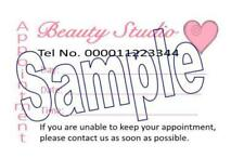 Appointment Cards 50 Beauty Heart Style Personalised Designed Printed