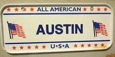 All American U S A Austin Mini Bike Vanity Name License Plate Sign Tag