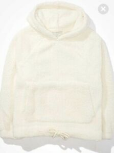 American Eagle Sherpa Cinched Hoodie Women's Size M