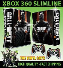 Xbox 360 Slim autocollant cod black ops III call of duty bo 3 peau & 2 pad skins