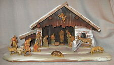 """Anri Nativity 3"""" Set with 17 Pieces and Creche"""