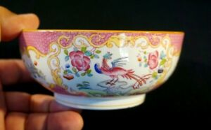Stunning Minton Pink Cockatrice Coupe Cereal Bowl