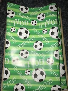 Childrens Any Occasion Football Folded Wrapping Paper 3m X 69cm FREE POSTAGE