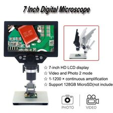 "12MP Digital Microscope 7"" LCD Display 1x - 1200x Amplification Magnifier Camera"