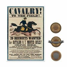 "13""×19"" Historic Poster, Reproduction: CAVALRY 1863 Civil War Recruitment Flyer"