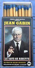 Boîte d'allumettes film Le cave se rebiffe, Jean Gabin