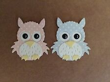 4 Cute Polka Dot Owlets 2 Pink And 2 Blue (baby Shower-newborn)
