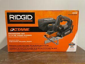 NEW RIDGID Octane R8481B 18V 3-1/4 inch Handheld Planer TOOL ONLY