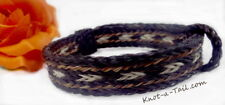 Rugged Horse Hair bracelet bold natural sorrel/black/white Distinctive BEAUTY