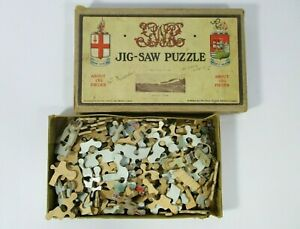 1930's Chad Valley Wooden Freight Train Jig-Saw Puzzle The Great Western Railway