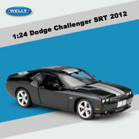 WELLY Diecast Toy Vehicles Car Model 1:24 Scale 2012 Dodge Challenger SRT Black