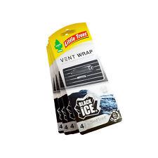 Little Trees Vent Wrap Air Freshener 4-PACKS (Black Ice)