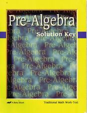 A Beka PRE-ALGEBRA Solution Key 2007 Spiral Bound Traditional Math Work Text
