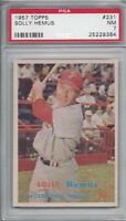 1957 Topps baseball card #231 Solly Hemus, Philadelphia Phillies graded PSA 7