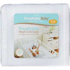 *New* Breathable Mesh Crib Liner - White