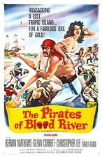 THE PIRATES OF BLOOD RIVER Movie POSTER 27x40 Kerwin Mathews Christopher Lee
