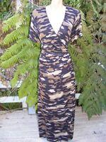 NEW BeMe MAXI DRESS rrp$69.99 Size 20. Black/Brown Tones. Tribal Animal Print
