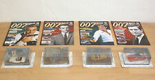 4x James Bond-il modellino di auto collection in 1:43 con quaderni
