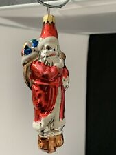 Collectible Blown Glass Santa Claus Hanging Christmas Ornament