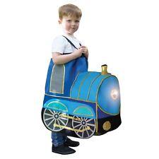 Boys Blue paseo en tren de juguete de paso motor de sonido Luz Fancy Dress Costume 3+ años