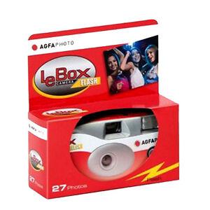 Agfa LeBox Single Use Disposable Camera with Flash 27exp 03/24