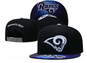 Los Angeles Rams Mitchell and Ness Adjustable Snapback Hat