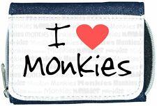 I Love Heart Monkies Denim Wallet