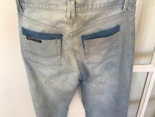 New  Bettina Liano Designer Jeans - Light Wash Denim  Straight Leg Sz 32