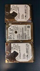 """3 x HGST 1TB Internal Hard Drive 2.5"""" 5400 RPM, 1 x  SATA 6GBs and 2 x 3GBs"""