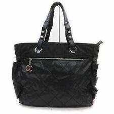 CHANEL Tote Bag Matelasse Black Leather 1506480