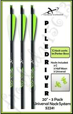 "CARBON EXPRESS 20"" PileDriver Crossbow Bolts/Arrows Univ Nock 3Pk Parker 52241"