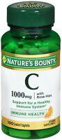 Nature's Bounty Vitamin C 1000 mg Plus Rose Hips Caplets 100 ea