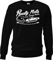 'Rusty Nuts Garage Services' sweatshirt. Alfa GTV6