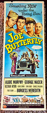 JOE BUTTERFLY! 57' AUDIE MURPHY CLASSIC RARE ORIGINAL INSERT FILM POSTER!
