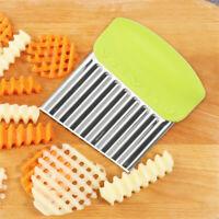Stainless Steel Potato Wavy Cutter Chopper Vegetable Fruit Slicer Kitchen Tooll