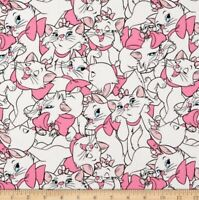 Disney Classics Marie Allover Pink Half Yard 45cm x 110cm Cotton 100%