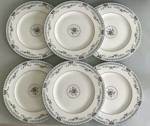 "Wedgwood Rosedale R4665 Dinner Plates 10.75"" Set Of 6 - Job Lot"
