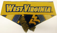 West Virginia Scarf Sixty Four Inch Length Reversible with Split Logo