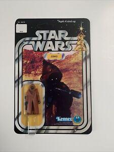 Custom Vintage Star Wars Vinyl Cape Jawa 12 Back On Kenner Card